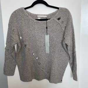 Anthropologie One Grey Day Grace Sweater NWT